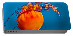 Portable Battery Charger featuring the photograph Close Up Of A Sea Nettle Jellyfis by Eti Reid