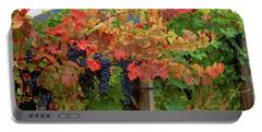 Close-up Of Cabernet Sauvignon Grapes Portable Battery Charger