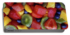 Close-up Of Fruit Salad Portable Battery Charger