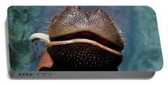 Close-up Of Hippopotamus Hippopotamus Portable Battery Charger