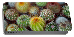 Close-up Of Multi-colored Cacti Portable Battery Charger