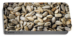 Close-up Of Sunflower Seeds Portable Battery Charger
