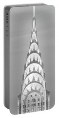 Close Up Of The Chrysler Building Portable Battery Charger