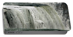 Closeup Of Icy Niagara Falls Portable Battery Charger by Rose Santuci-Sofranko