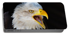 Closeup Portrait Of A Screaming American Bald Eagle Portable Battery Charger