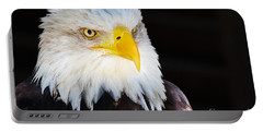 Closeup Portrait Of An American Bald Eagle Portable Battery Charger by Nick  Biemans