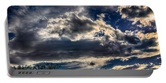 Portable Battery Charger featuring the photograph Cloud Drama by Mark Myhaver