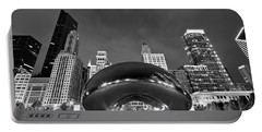 Cloud Gate And Skyline Portable Battery Charger by Adam Romanowicz