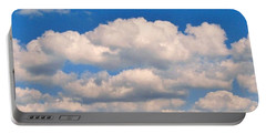 Clouds Over Lake Pontchartrain Portable Battery Charger by Deborah Lacoste
