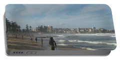 Portable Battery Charger featuring the photograph Clouds Over Manly Beach by Leanne Seymour