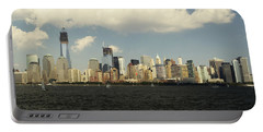 Clouds Over New York Skyline Portable Battery Charger