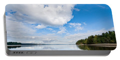 Clouds Reflected In Puget Sound Portable Battery Charger