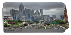 Cloudy Atlanta Capital Of The South Portable Battery Charger