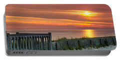 Portable Battery Charger featuring the photograph Sandy Neck Beach Sunrise by Mike Ste Marie