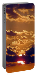 Key West Cloudy Sunset Portable Battery Charger