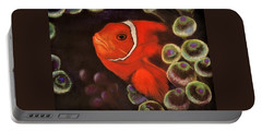 Clown Fish In Hiding  Pastel Portable Battery Charger