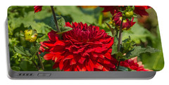 Cluster Of Dahlias Portable Battery Charger