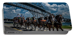 Clydesdales And Blue Water Bridges Portable Battery Charger
