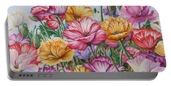 Coastal Poppies Portable Battery Charger