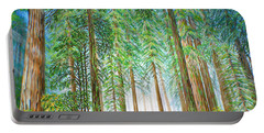 Coastal Redwoods Portable Battery Charger by Jane Girardot