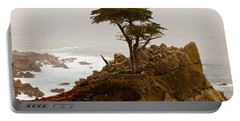 Coastline Cypress Portable Battery Charger by Melinda Ledsome