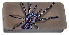 Cobalt Blue Tarantula Portable Battery Charger