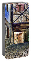 Cobble Streets Of Potes Spain By Diana Sainz Portable Battery Charger