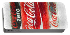 Coca Cola Art Impasto Portable Battery Charger by Antony McAulay