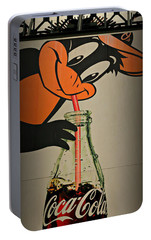 Coca Cola Orioles Sign Portable Battery Charger by Stephen Stookey