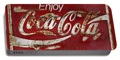 Coca Cola Red Grunge Sign Portable Battery Charger