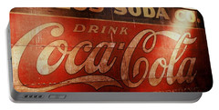 Portable Battery Charger featuring the photograph Coca Cola Sign by Rodney Lee Williams