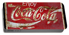 Coca Cola Vintage Rusty Sign Portable Battery Charger