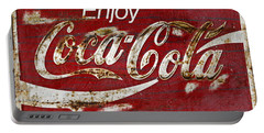 Coca Cola Wood Grunge Sign Portable Battery Charger