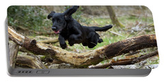 Cocker Spaniel Jumping Portable Battery Charger