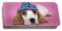 Cocker Spaniel With Ice Pack Portable Battery Charger