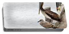 Portable Battery Charger featuring the photograph Coexist by AJ  Schibig