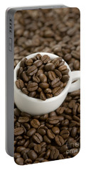 Portable Battery Charger featuring the photograph Coffe Beans And Coffee Cup by Lee Avison