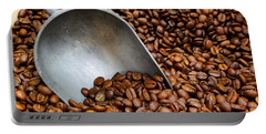 Coffee Beans With Scoop Portable Battery Charger by Jason Politte