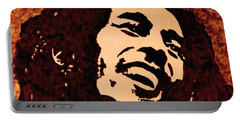 Coffee Painting Bob Marley Portable Battery Charger by Georgeta  Blanaru
