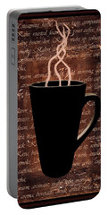 Coffee Time Portable Battery Charger by Barbara St Jean