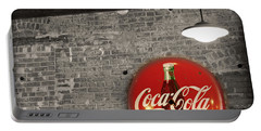 Coke Cola Sign Portable Battery Charger by Paulette B Wright