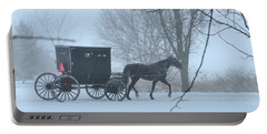 Cold Amish Morning Portable Battery Charger