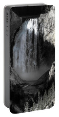 Portable Battery Charger featuring the photograph Cold Cascade  by David Andersen