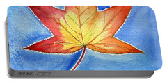 Cold Fall Sky Portable Battery Charger by Katherine Miller