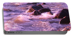 Portable Battery Charger featuring the photograph Cold Lake Rolls by Marianne NANA Betts