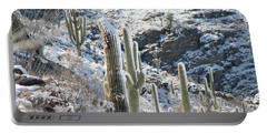 Cold Saguaros Portable Battery Charger by David S Reynolds
