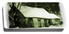 Countryside Winter Scene Portable Battery Charger
