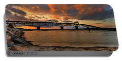 Coleman Bridge At Sunset Portable Battery Charger by Jerry Gammon