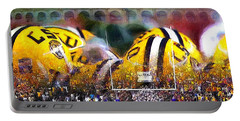 Collage Lsu Tigers Portable Battery Charger