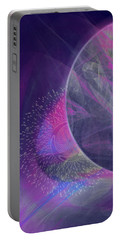 Portable Battery Charger featuring the digital art Collision by Victoria Harrington
